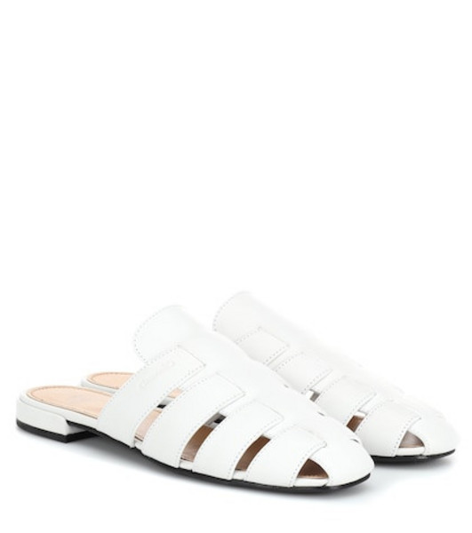 Church's Becky leather slippers in white