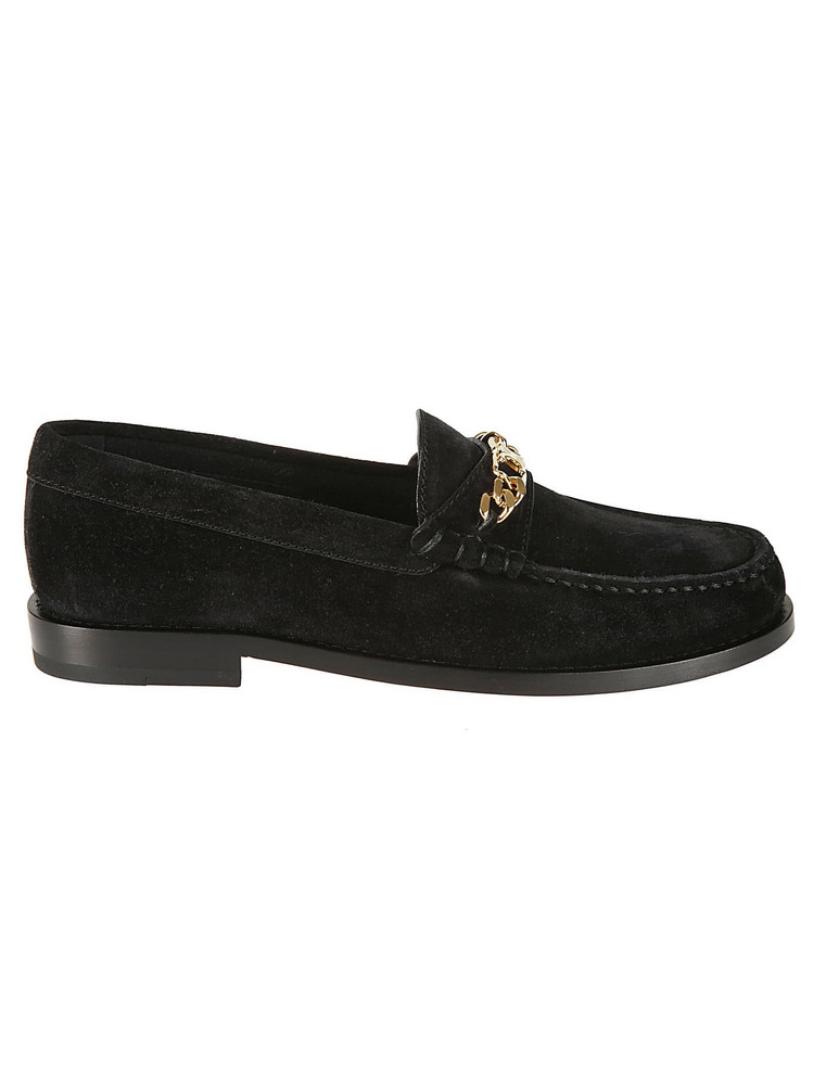 Celine Chain Loafers in black