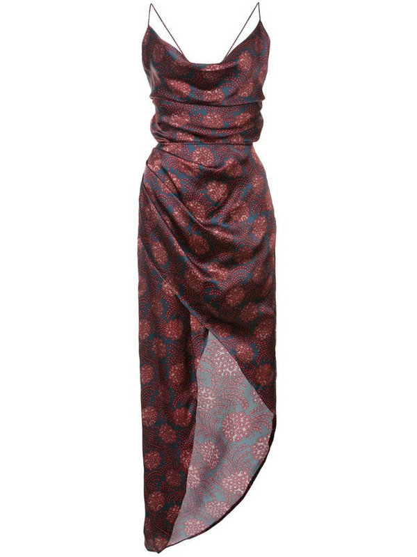 Haney Maritime print dress in red