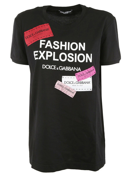 Dolce & Gabbana Fashion Explosion T-shirt in black