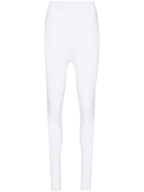 Falke high-waist leggings in white
