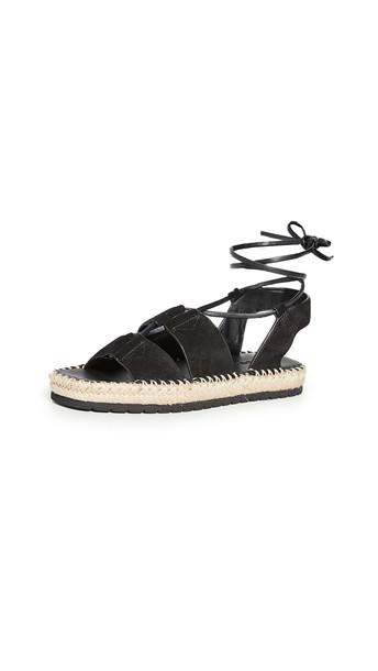 Vince Tibor Wrap Sandals in black