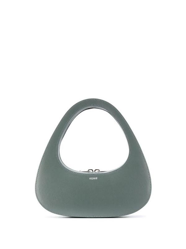Coperni Swipe Baguette shoulder bag in green