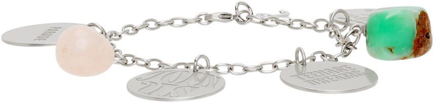 Raf Simons Silver Medallions Bracelet in pink