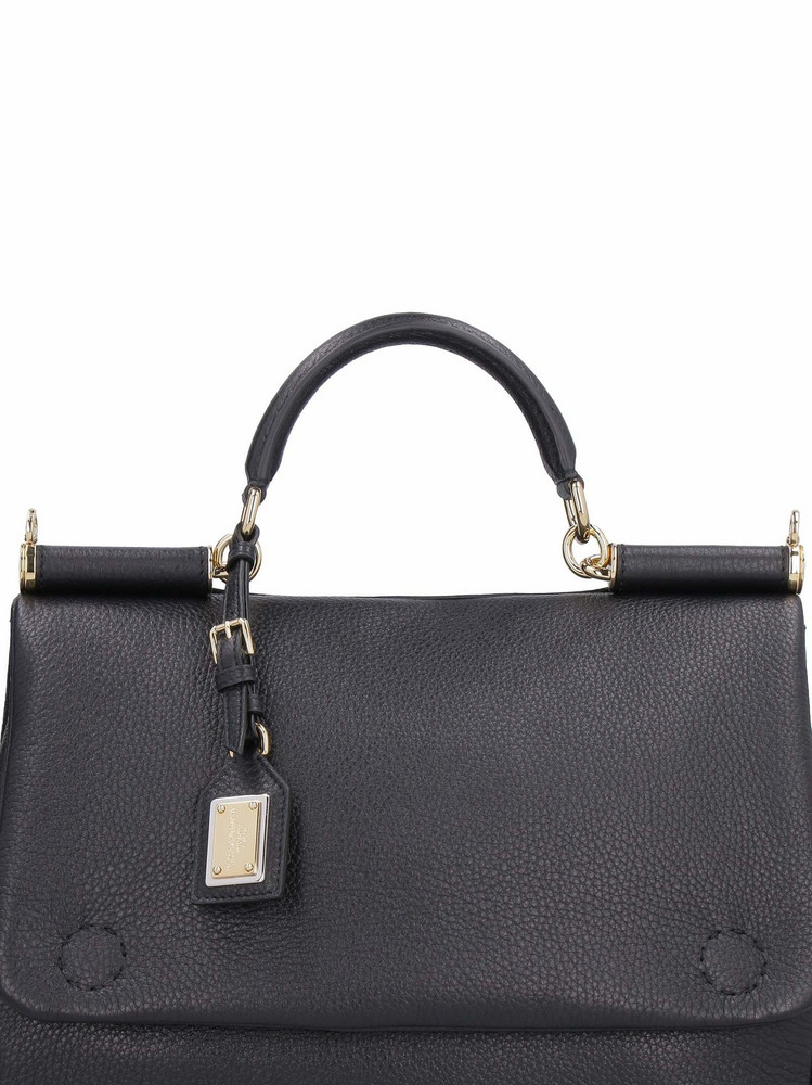 Dolce & Gabbana Sicily Leather Tote-bag in black