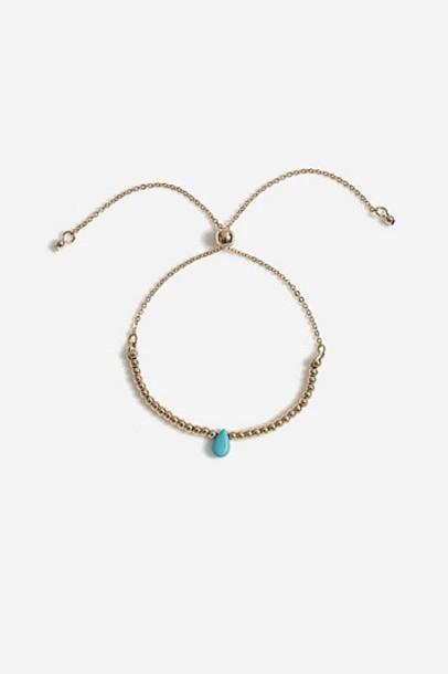Topshop *Healing Turquoise Stone Bracelet - Turquoise