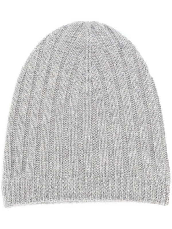 Holland & Holland ribbed beanie in grey