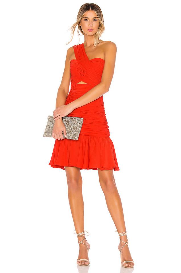 JILL JILL STUART One Shoulder Mini Dress in red