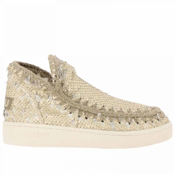 Mou Flat Booties Shoes Women Mou in silver