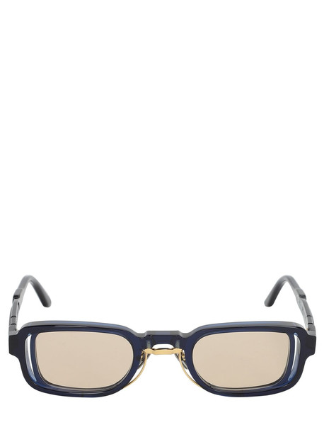 KUBORAUM BERLIN N12 Double Frame Squared Sunglasses in blue / brown