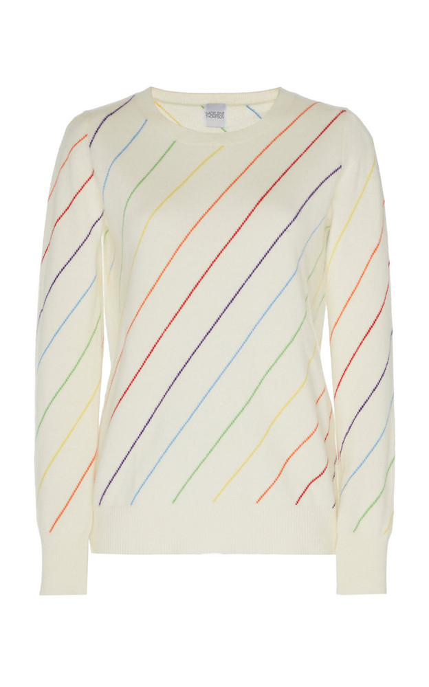 Madeleine Thompson Cerus Multicolor Striped Cashmere Sweater in neutral