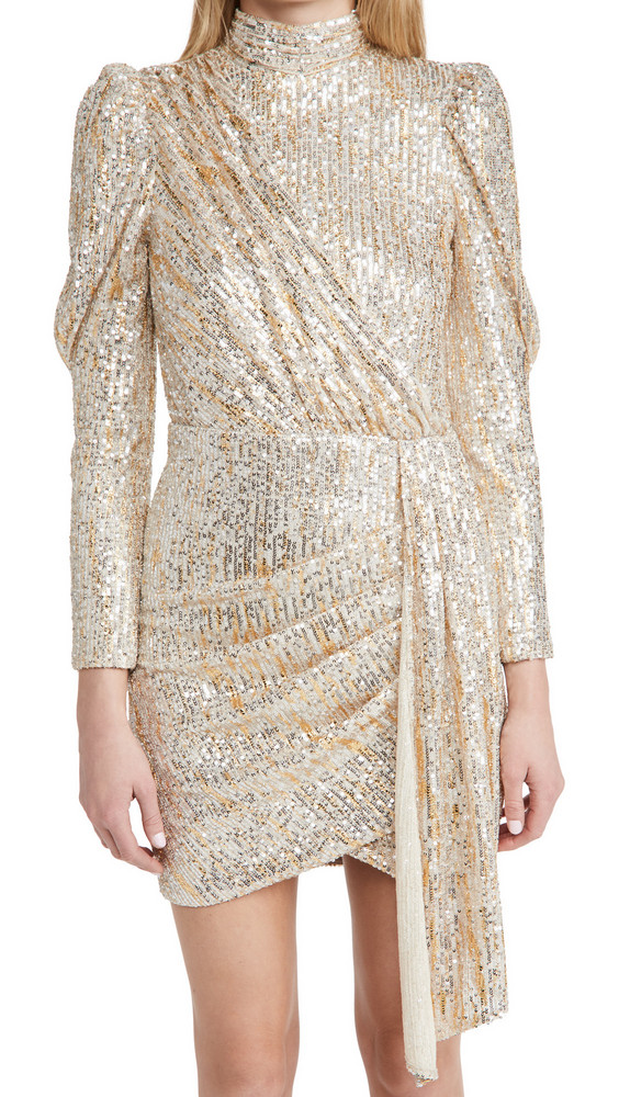 Saylor Bianca Dress in gold / silver