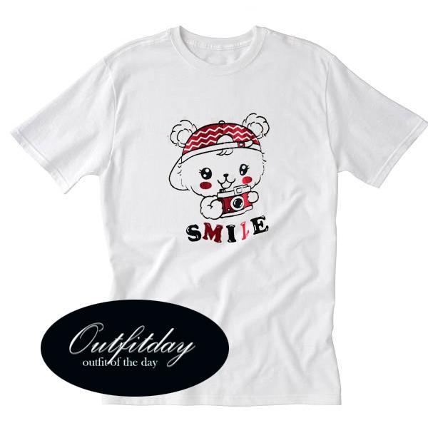 Smile Cute Bear Tshirt
