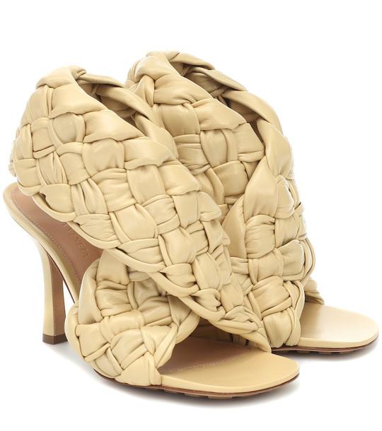 Bottega Veneta BV Board leather sandals in beige