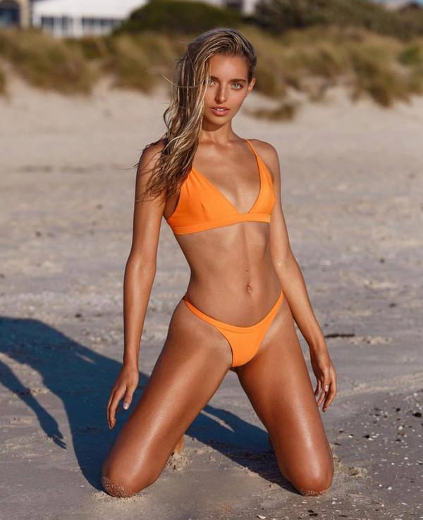 swimwear orange swimwear