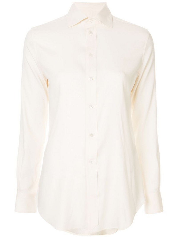 Ralph Lauren Collection classic button shirt in white