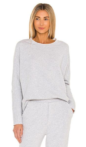 Frank & Eileen Long Sleeve Capelet Sweatshirt in Grey in gray