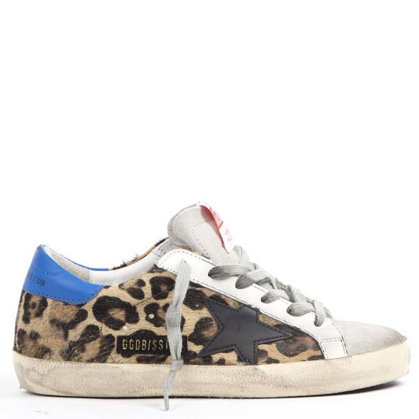 Golden Goose Superstar Sneakers In Leopard Printed Leather