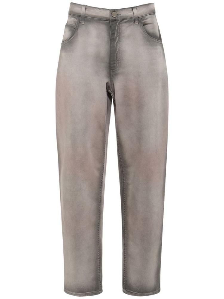 ALBERTA FERRETTI Cotton Denim Jeans in grey / multi