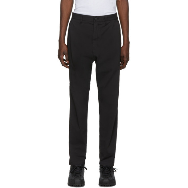 Stone Island Shadow Project Black Twill Trousers