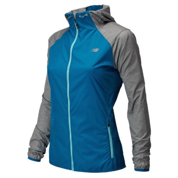 New Balance 5128 Women's Surface Run Jacket - Wave Blue, Anthracite Heather (WRJ5128WAB)