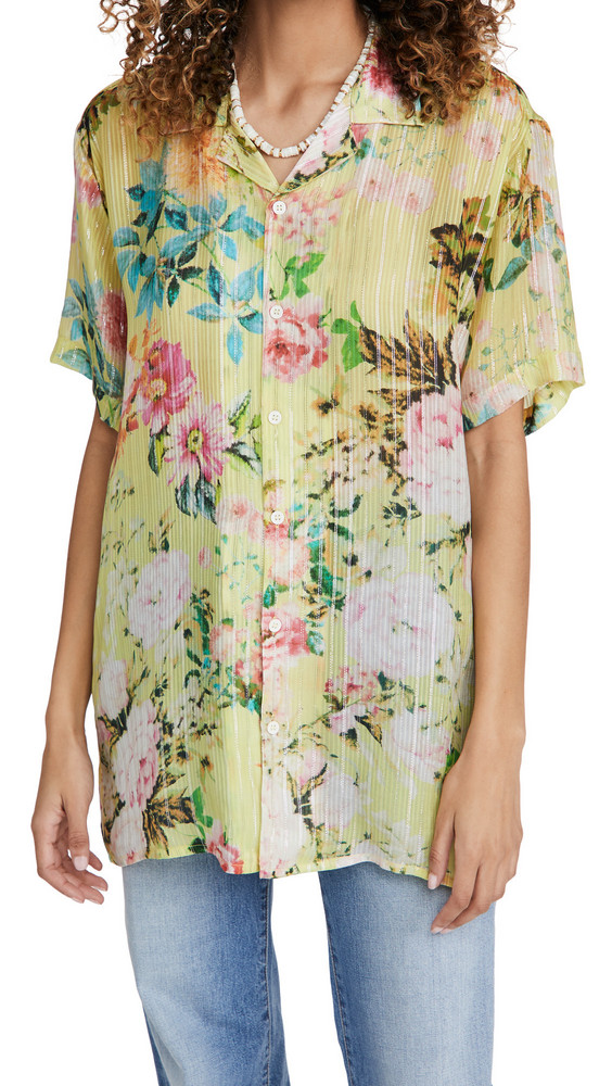 Hemant and Nandita Floral Shirt in yellow