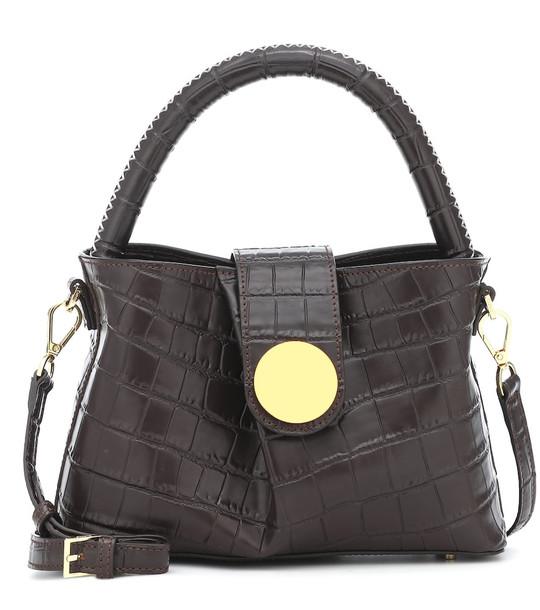 Elleme Malette leather shoulder bag in brown