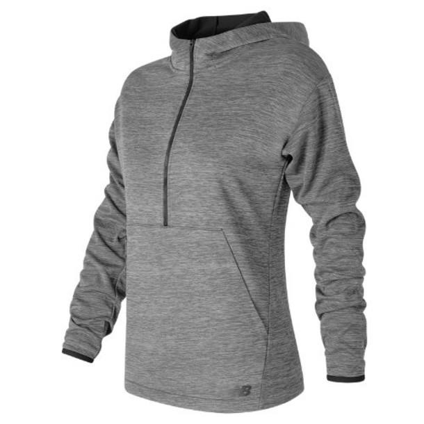 New Balance 63126 Women's Tech Fleece Hoodie - Grey/Black (WT63126GOH)