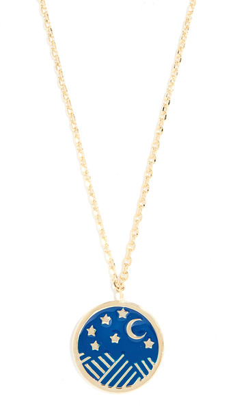 Jules Smith Starry Night Necklace in gold / yellow