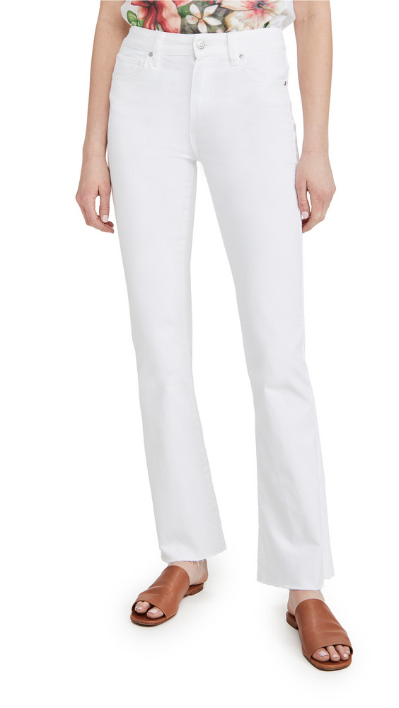 PAIGE High Rise Laurel Canyon Jeans in white