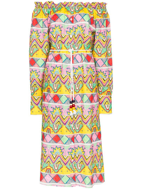 Mira Mikati Aztec print dress in white