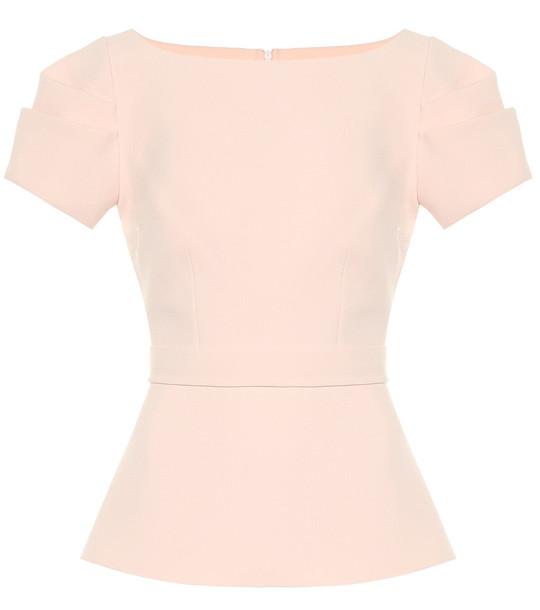 Safiyaa Fayola crêpe top in pink