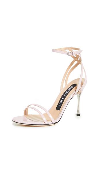 Sergio Rossi Godiva Steel Sandals in blush
