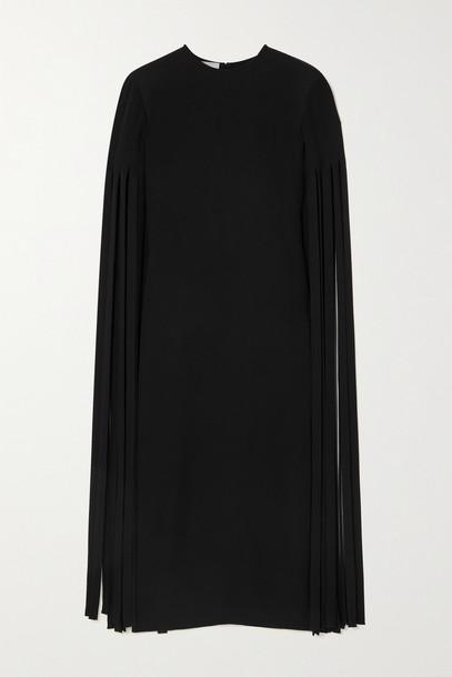 VALENTINO - Tasseled Silk-cady Midi Dress - Black