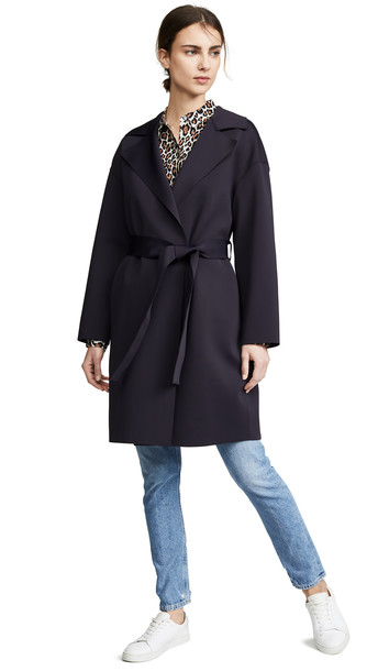 Harris Wharf London Dropped Shoulder Belted Coat in midnight