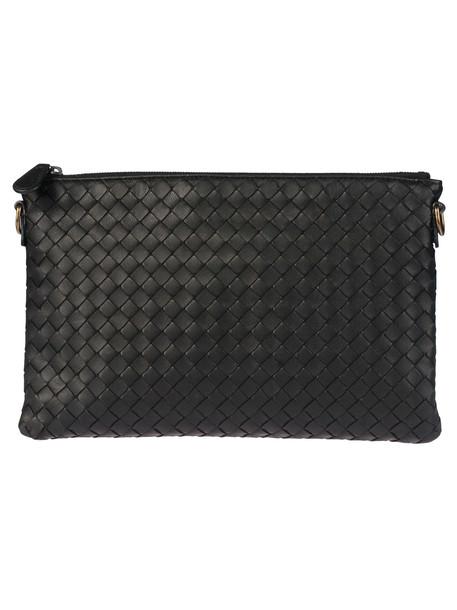 Bottega Veneta Patterned Shoulder Bag in nero
