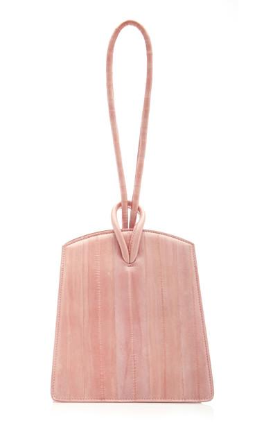 Little Liffner Loop Eel Top Handle Bag in pink