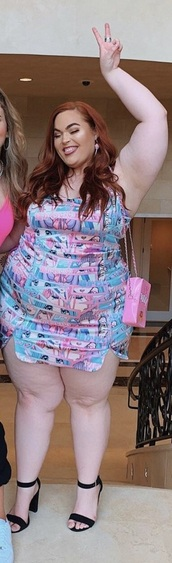dress,anime blue and pink dress