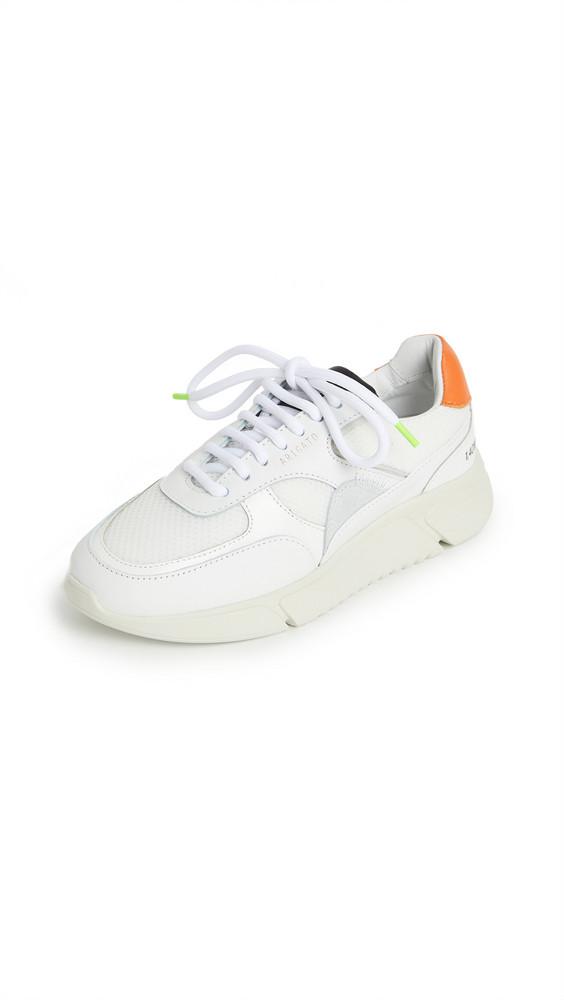 Axel Arigato Genesis Triple Sneakers in black / green / orange