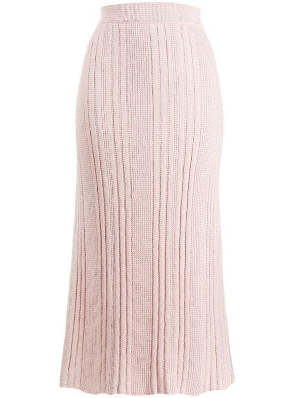 Jil Sander knitted midi skirt in pink