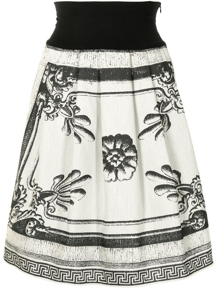 agnès b. agnès b. floral print skirt - Black