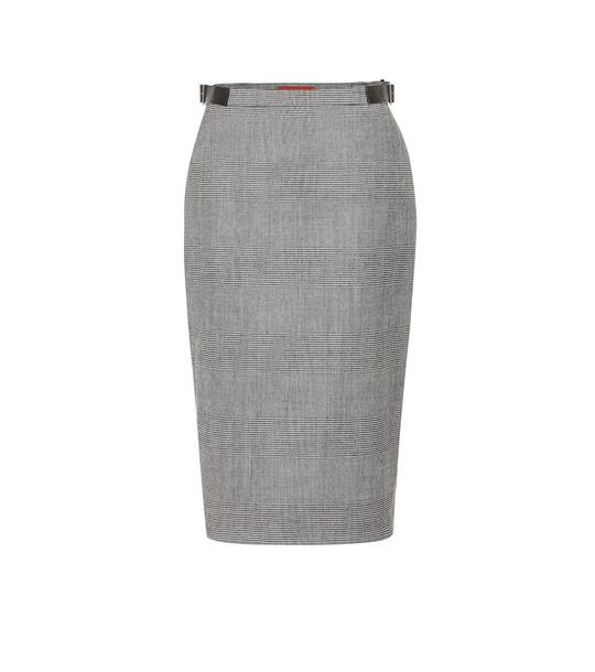 Altuzarra Bolan checked wool-blend skirt in black
