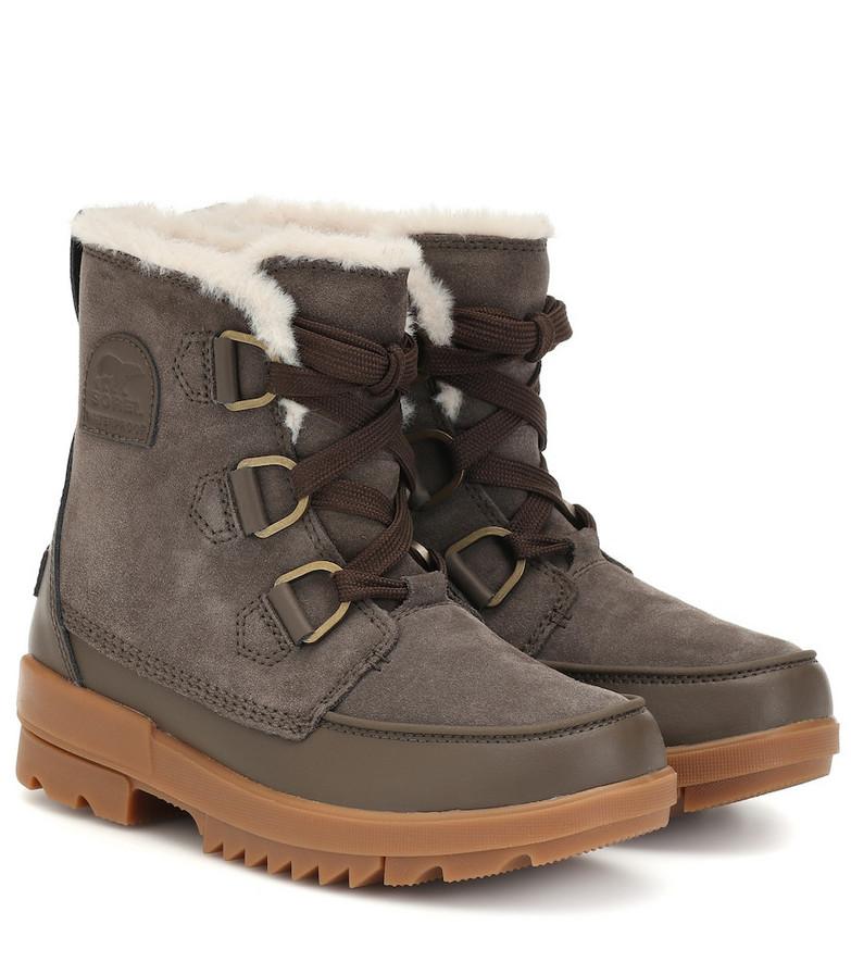 Sorel Tivoli suede boots in brown