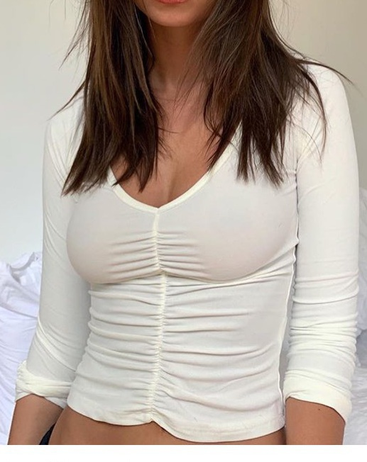 top white emily ratajkowski emrata model instagram m