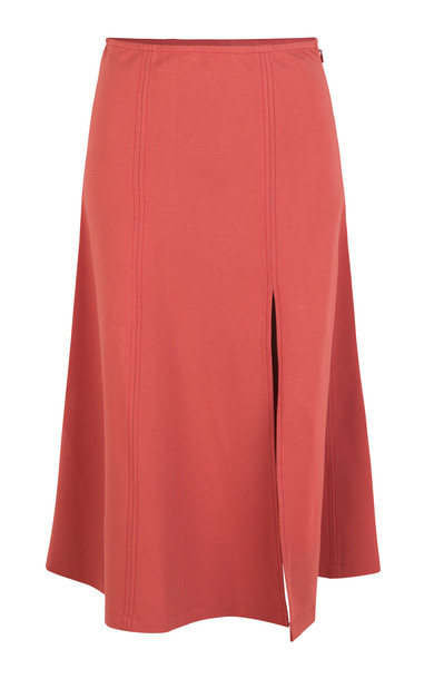 Stine Goya Amir Split Midi Skirt Size: XXS in red