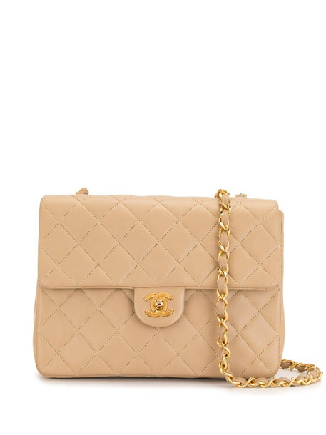 Chanel Pre-Owned 1990s diamond-quilted shoulder bag in neutrals