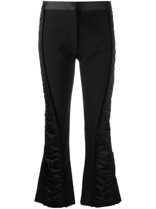 Mugler contrast panel trousers in black