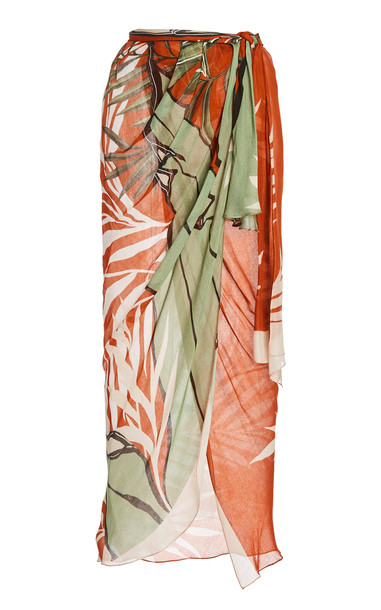 Johanna Ortiz Wrap In The Salt Printed Wrap Skirt in multi