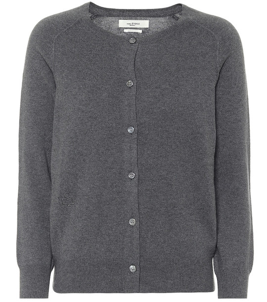 Isabel Marant, Étoile Napoli cotton and wool cardigan in grey