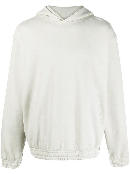 Styland side stripe hooded sweatshirt in grey